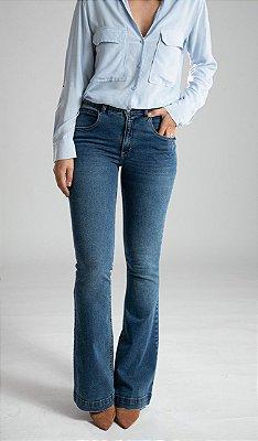 Calça Jeans Microflare - Valencia -  Santé Denim