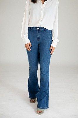 Calça Jeans Microflare - Leiria -  Santé Denim
