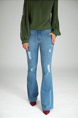 Calça Jeans Microflare  - Coimbra -  Santé Denim