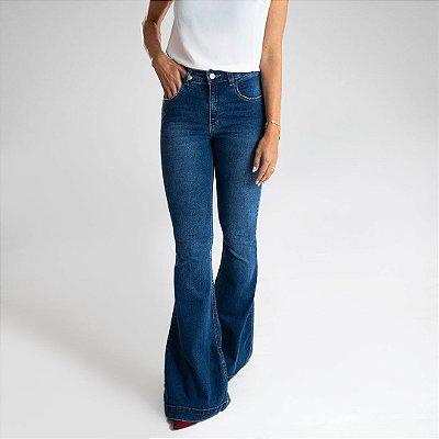 Calça Jeans Flare - Cáli - Santé Denim