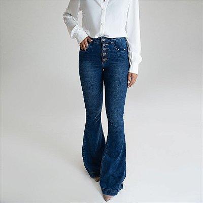 Calça Jeans Flare - San Andrés - Santé Denim