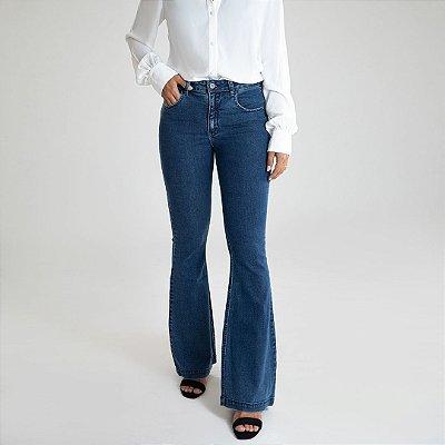 Calça Jeans Microflare - Prado - Santé Denim