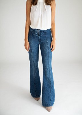 Calça Jeans Flare - Milos - Santé Denim