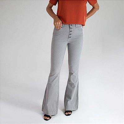 Calça Jeans Flare Cinza  - Cape Town