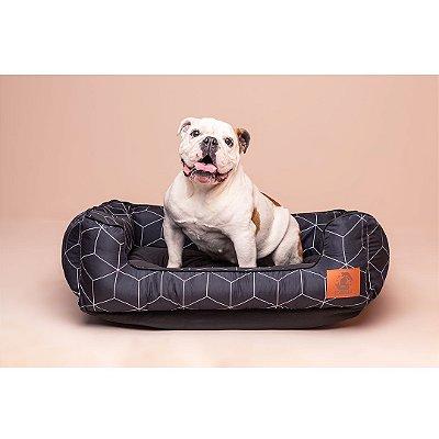 Cama para Cachorro - Mabuu Pet - Linhas Geométricas Preta
