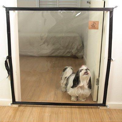 Dog Door Mabuu – Tela de Proteção para Portas - 80 cm x 90 cm - Preto