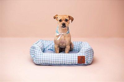 Cama para Cachorro Mabuu Pet - Vichy Azul