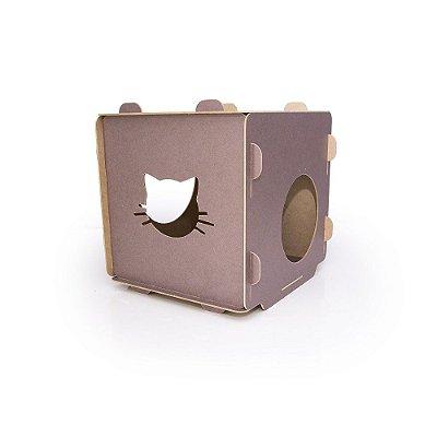 Toquinha em Cubo de MDF para Gatos - Roxo