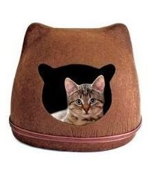 Toca para Gatos - Carinha de Gato Marrom