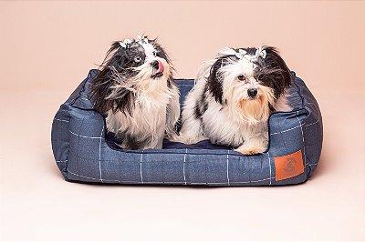 Cama para Cachorro Mabuu Pet - Azul com Linhas