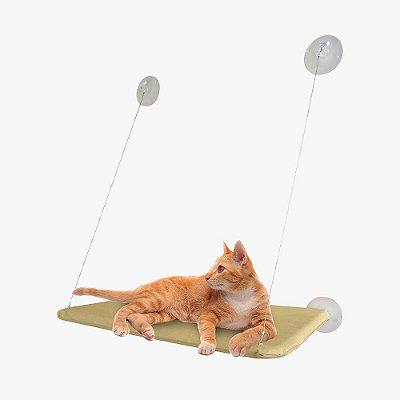 Cama Suspensa de Janela com Ventosa para Gatos