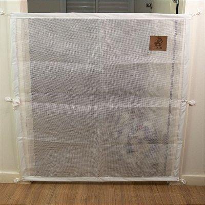 Proteção Para Portas - Tela - Mabuu Pet - 110 cm x 90 cm - Branco