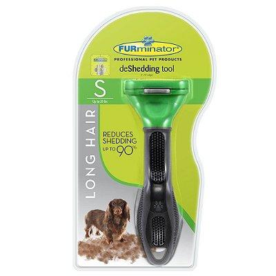 Escova Tira Pelo New Furminator para Cães e Gatos Pequeno Porte - Pelos Longos