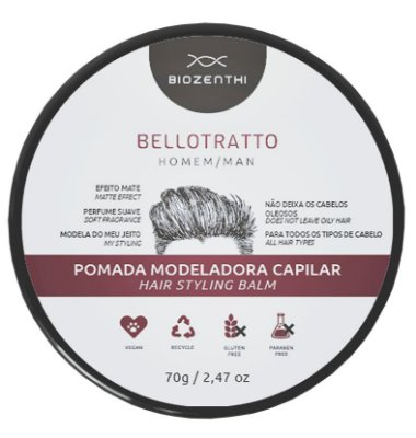 Pomada Modeladora Vegana BelloTratto Biozenthi - 70g