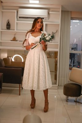Vestido noiva civil Lady Like, Cravo