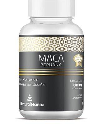 Maca Peruana Com Vitaminas e Minerais 60 cápsulas - Naturalmania