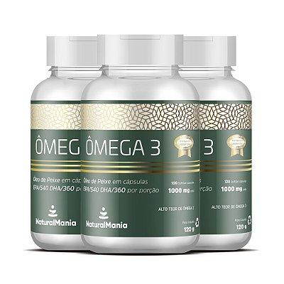 Combo 3 Frascos de Omega-3 com 120 cápsulas (cada) - Naturalmania