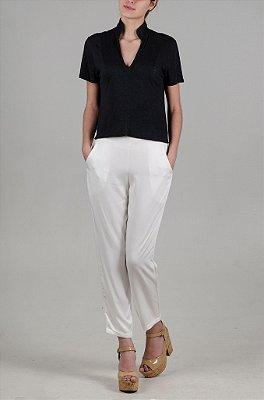 Blusa Black Rustic Linen