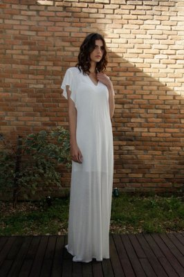 Vestido Natrual Rustic Linen