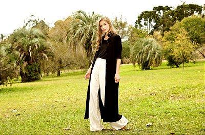 Vestido Capa Simply Linen Black