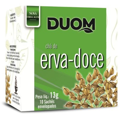 Chá de Erva Doce 10 sachês Duom