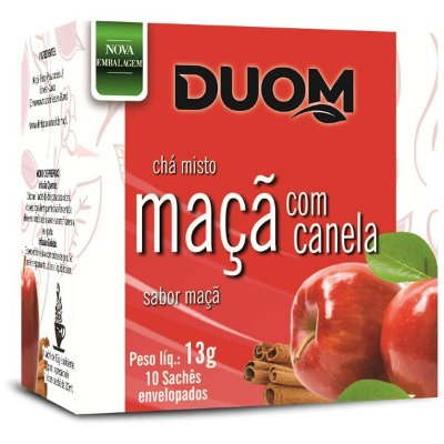 Chá de Maçã e Canela 10 sachês Duom