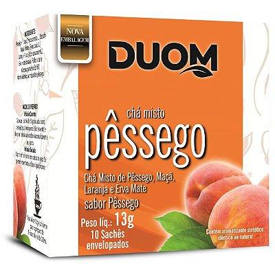 Chá de Pêssego com Maçã 10 sachês Duom