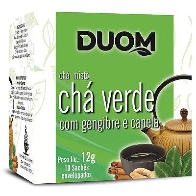 Chá Verde com Gengibre e Canela 10 sachês Duom