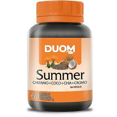 Summer 1000mg - Óleo de Cártamo, Chia, Coco e Cromo 60 capsulas Duom