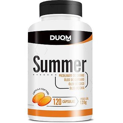 Summer 1000mg - Óleo de Cártamo, Chia, Coco e Cromo 120 capsulas Duom