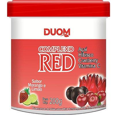 Complexo RED (Açaí, Hibisco, Cranberry e Vitamina C) 200g Sabor Morango e Limão