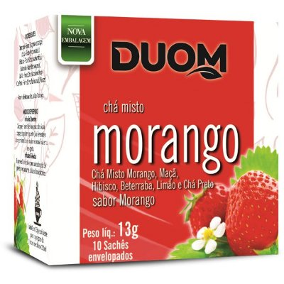 Chá de Morango 10 sachês Duom