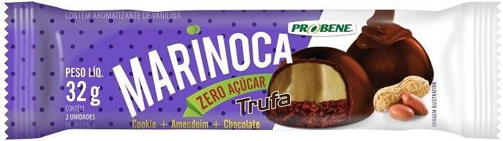 Marinoca Zero Açúcar Display 12 Unidades (Cookie, Amendoim e Chocolate)