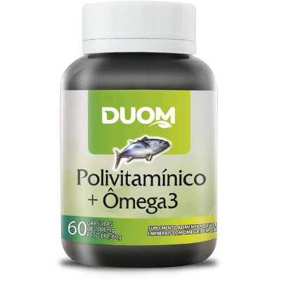 Polivitamínico com Ômega 3 60caps Duom