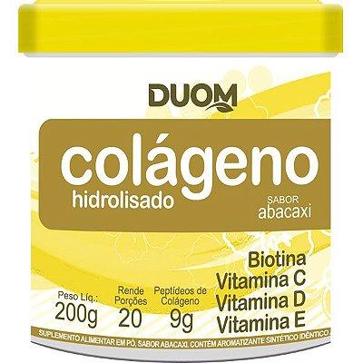 Colágeno Hidrolisado com Vitaminas 200g Sabor Abacaxi