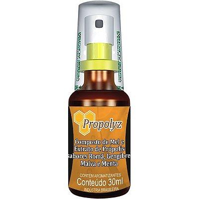 Spray de Mel e Própolis com Roma, Gengibre, Malva e Hortelã 30ml Propolyz