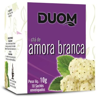 Chá de Amora Branca 10 sachês Duom