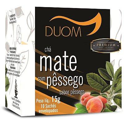 Chá Mate com Pêssego Premium 10 sachês Duom
