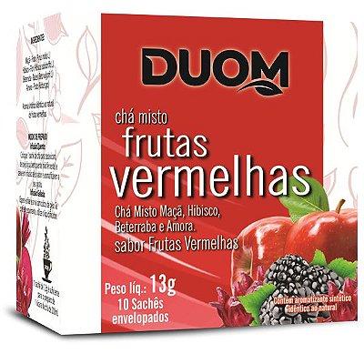 Chá de Frutas Vermelhas 10 sachês Duom