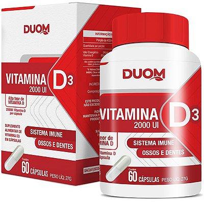 Vitamina D3 2000UI 60caps Duom