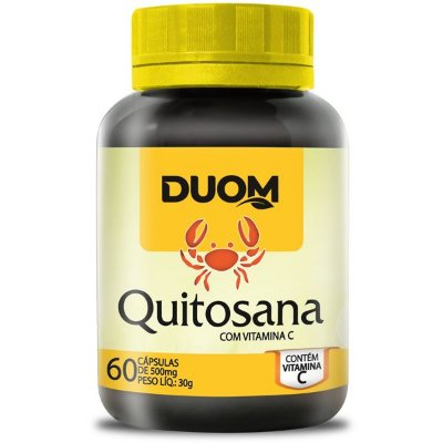 Quitosana com Vitamina C 500mg 60caps Duom