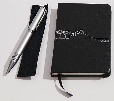 7- Kit Moleskine + Caneta em Metal - Convento da Penha
