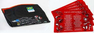 Conjunto Kit Avental Receita da Torta Capixaba + Jogo Americano Receita da Torta Capixaba (2 unidades)