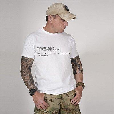 Camiseta de Algodão Estonada Branca Training Concept