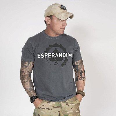 Camiseta de Algodão Estonada Chumbo Esperandio Concept