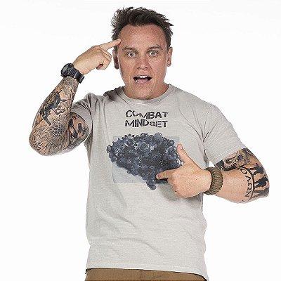 Camiseta de Algodão Estonada Cinza Brain Concept