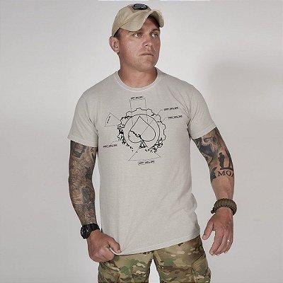 Camiseta de Algodão Estonada Cinza First Principle