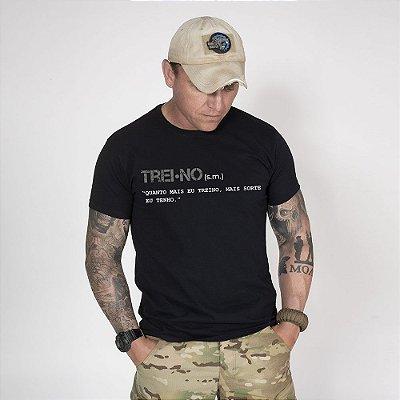 Camiseta de Algodão Estonada Preta Training Concept