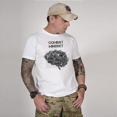 Camiseta de Algodão Estonada Branco Brain Concept
