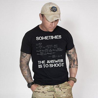Camiseta de Algodão Estonada Preta Equation